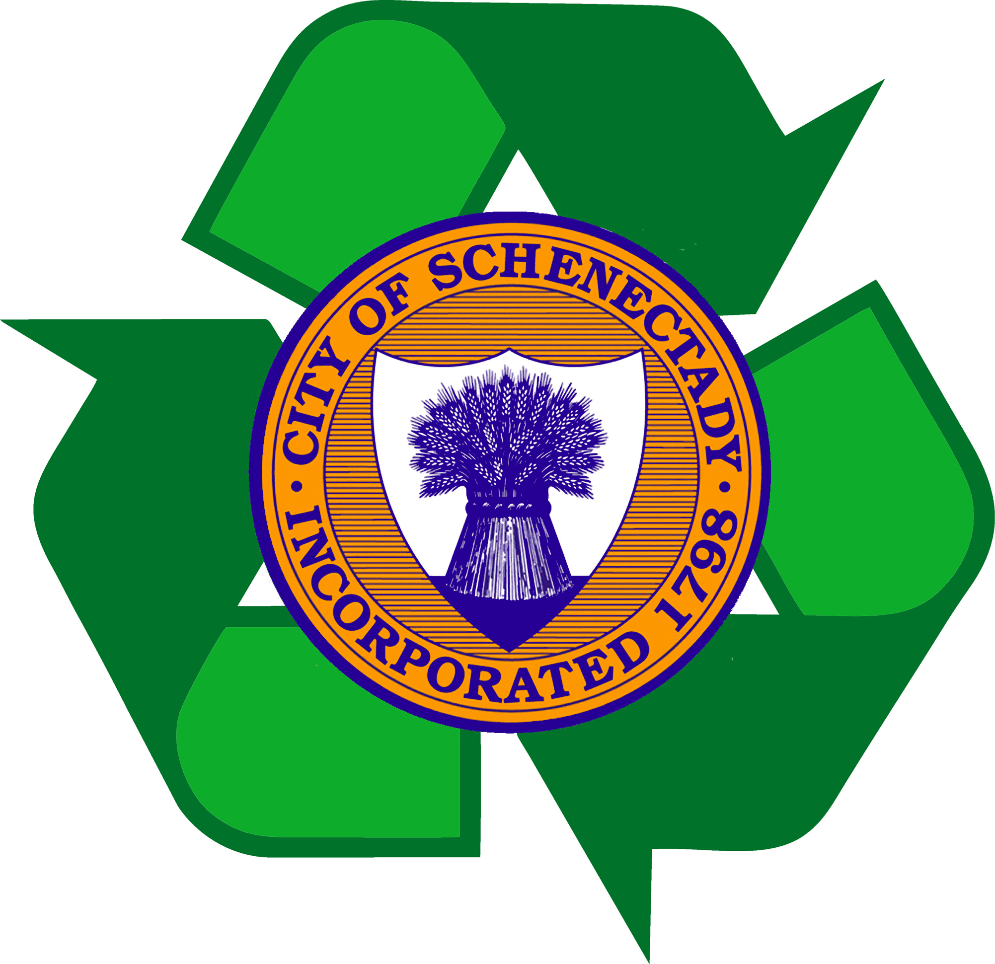 Logo of program and city seal