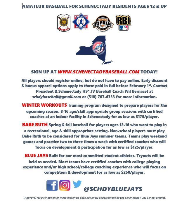 youth sports sign up schenectady ny
